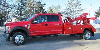 vulcan  light duty wrecker ford   crew cab