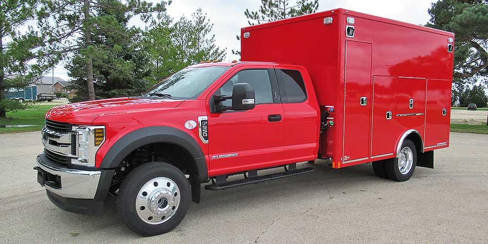 zips heavy duty road service body ford   super