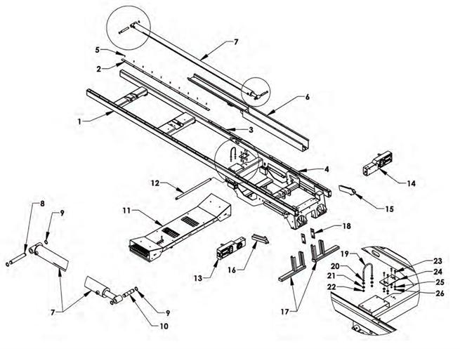 Subframe Components Outboard Tilt Cylinder