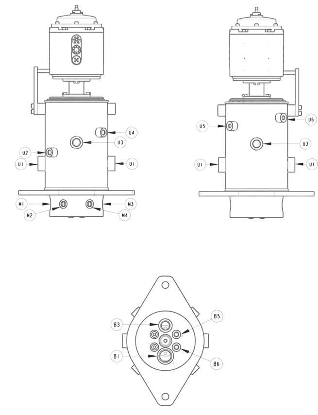 Hydraulic Rotary Swivel Assembly Ports