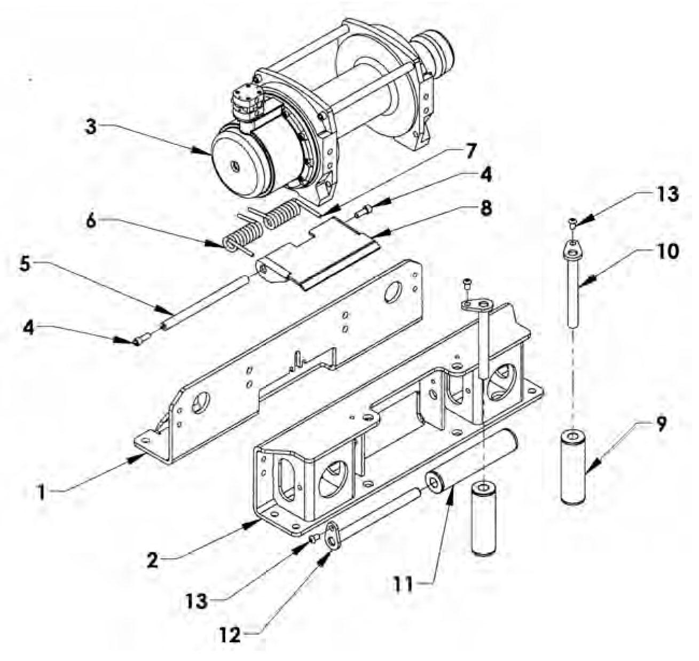 warren winch wiring diagram winch assembly diagram wiring