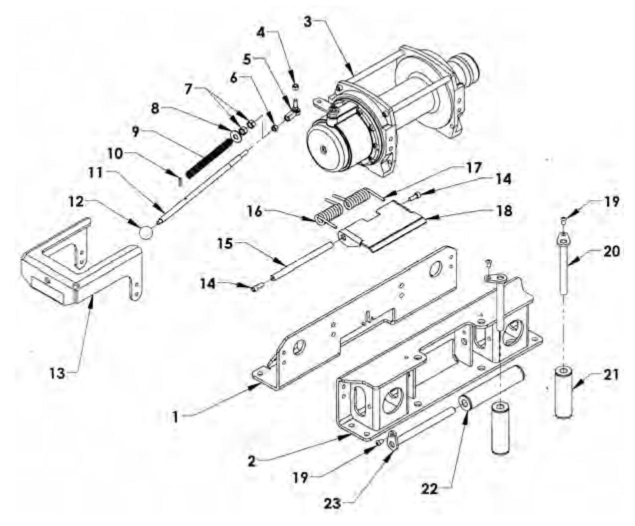 Warn 9000i Winch Parts Diagram Enthusiast Wiring Diagrams M12000 Schematic Xd9000i Elsavadorla 8000 Breakdown