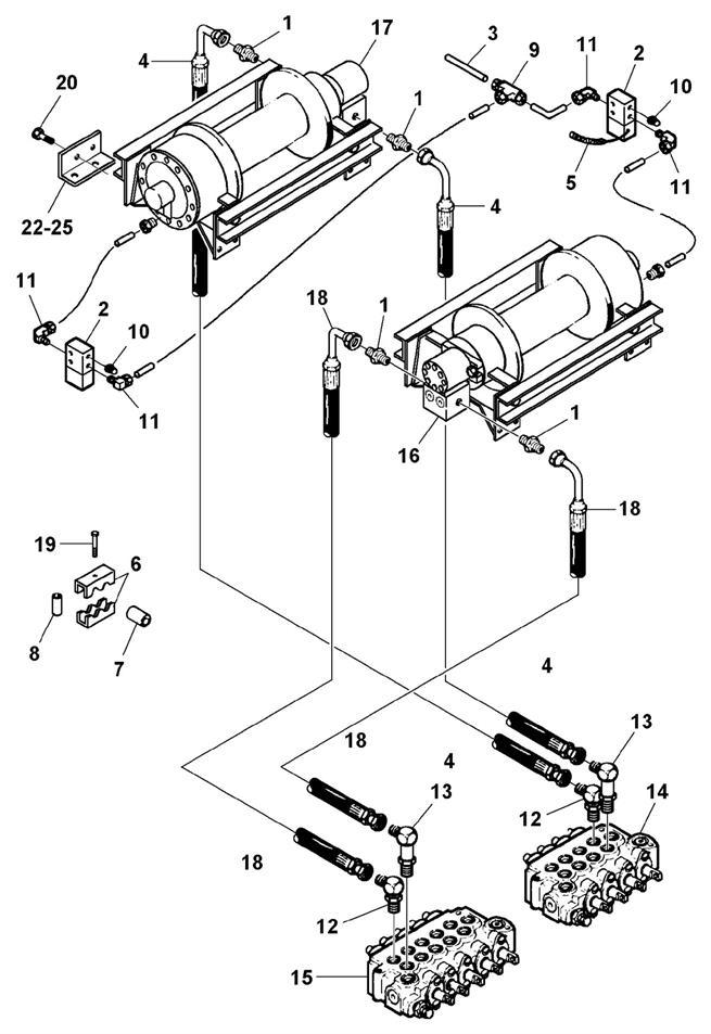 Planetary Winch Hydraulics & Air Free Spool