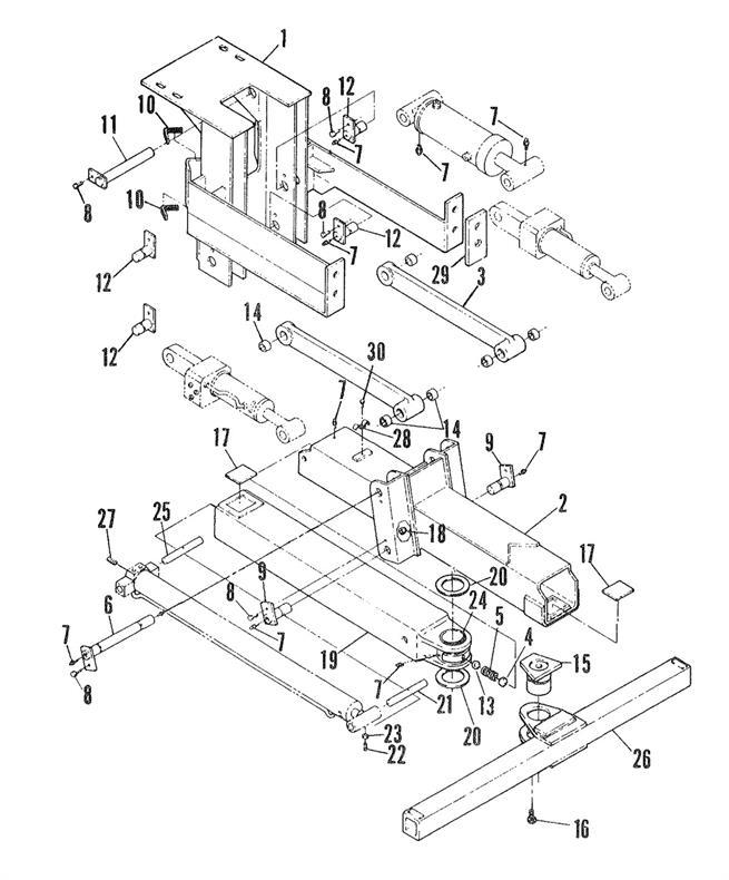 wheel lift assembly duplex tilt