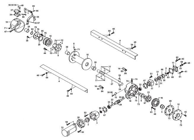 winch assembly h930 dow lok. Black Bedroom Furniture Sets. Home Design Ideas