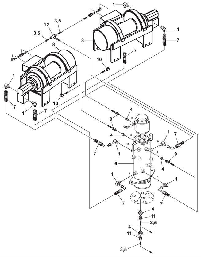 8808 Winch Hydraulics Air Free Spool