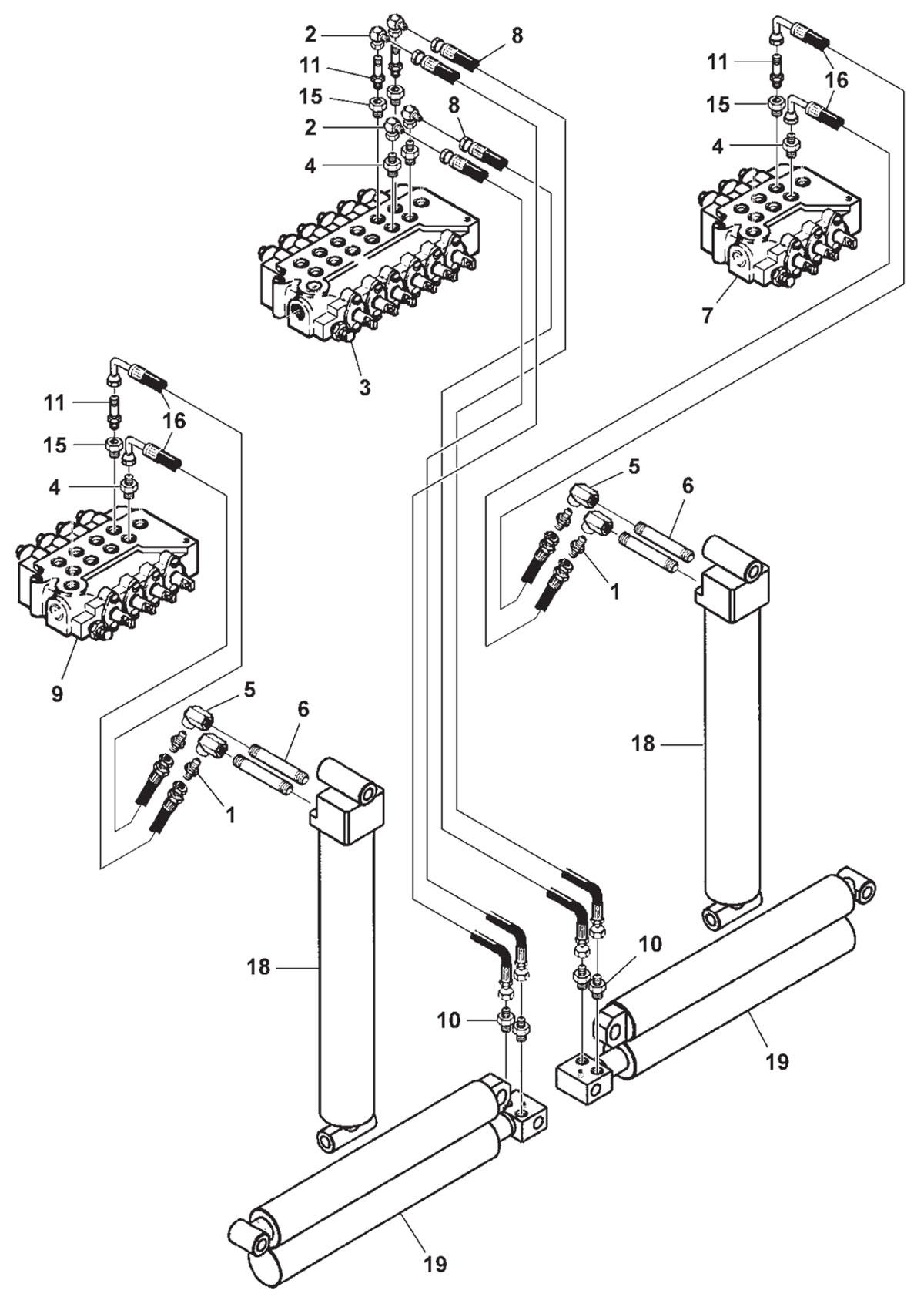 hydraulic schematics diagram trailer out riggers