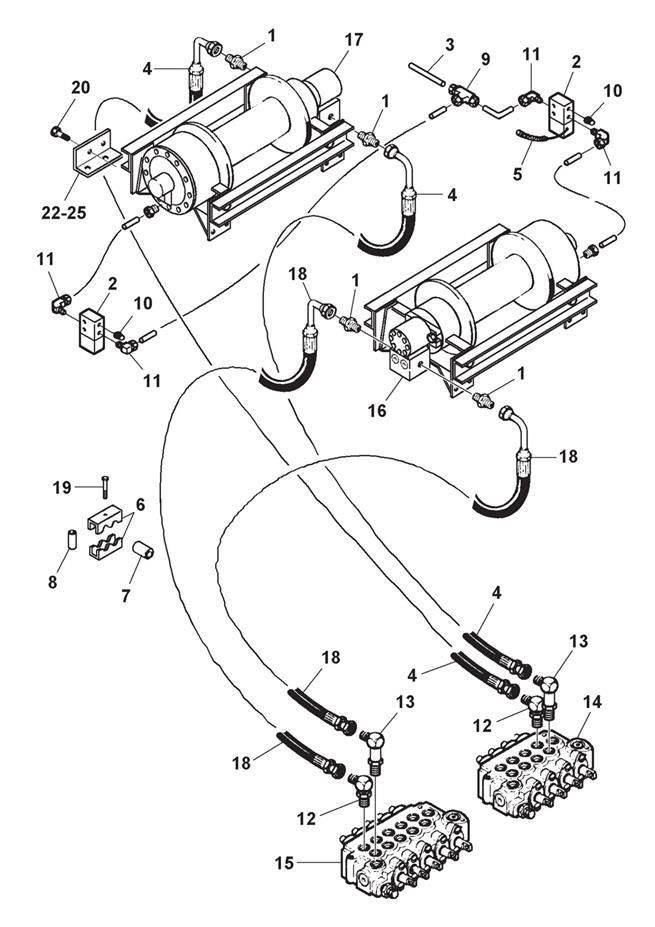 Planetary Winch Hydraulics Air Free Spool