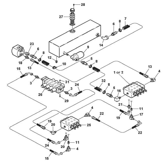 Pump, Valve & Filter Hydraulics (Models 4301, 4311 & 4312)