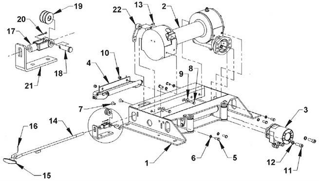 Ramsey HD234 Manual Shift Winch Group on