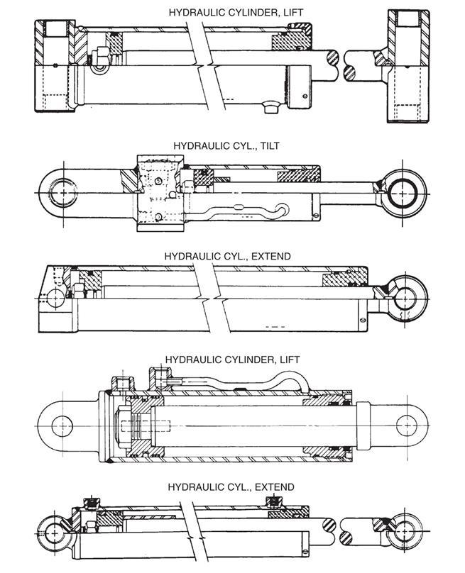 hydraulic cylinders wheel lift