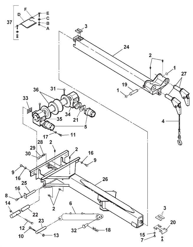 wrecker assembly 552b