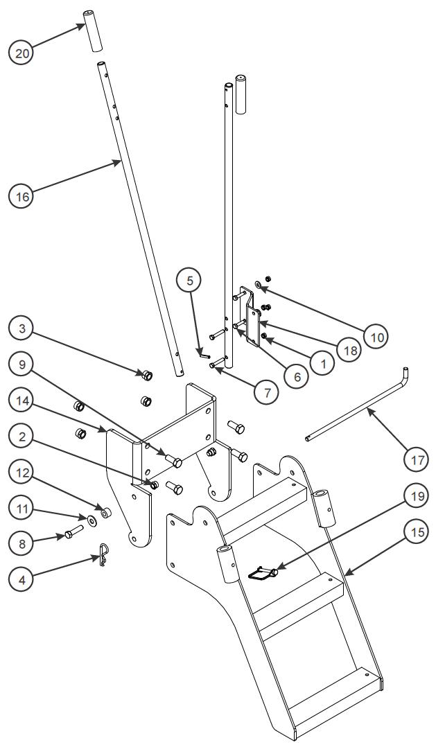 Ladder Assembly, Stor-Awar (Option)