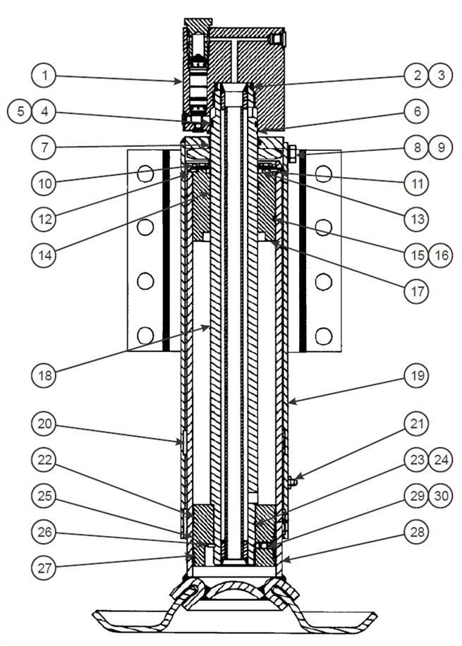 Leg Items, Dock Leveler W/ Lock Valve (1 of 2)