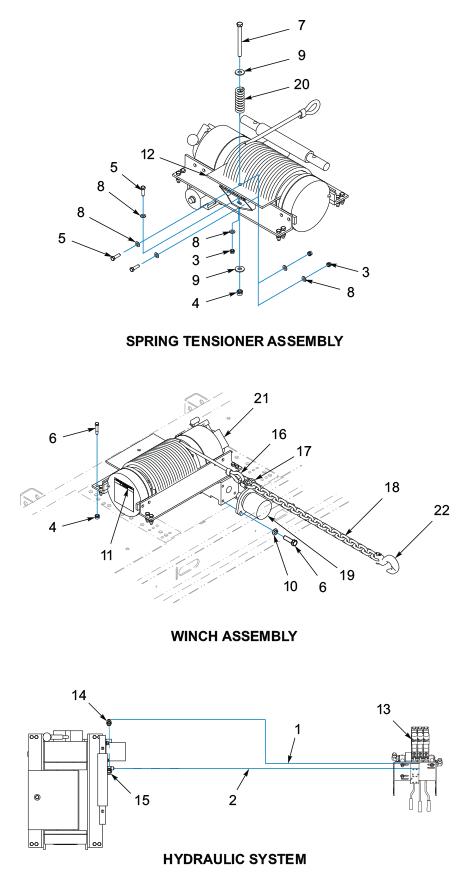 Winch Installation - 20K Spring Tension (BRADEN)