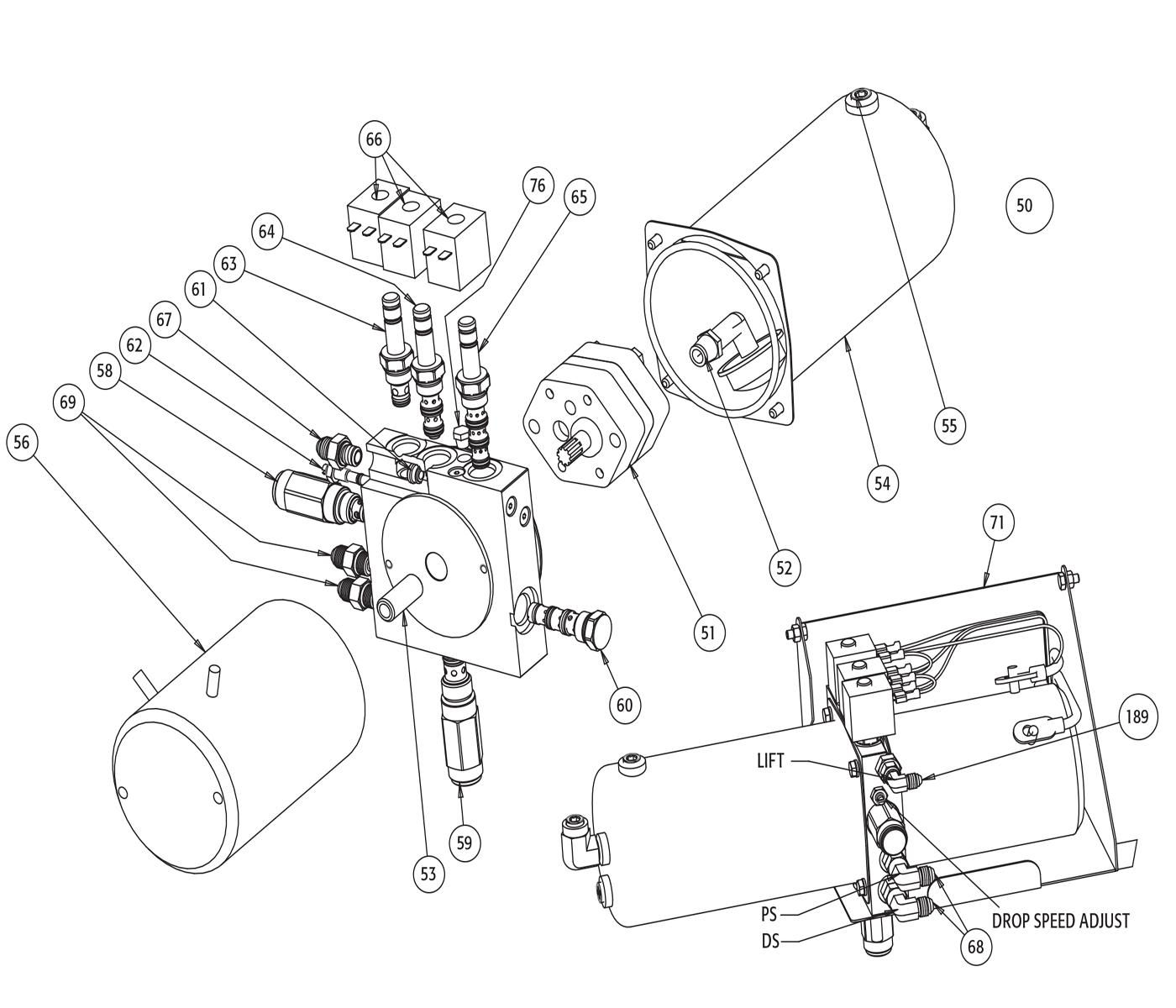 Snowdogg Md75 Wiring Diagram Ex 80 Md Hydraulic Power Unit Schematic