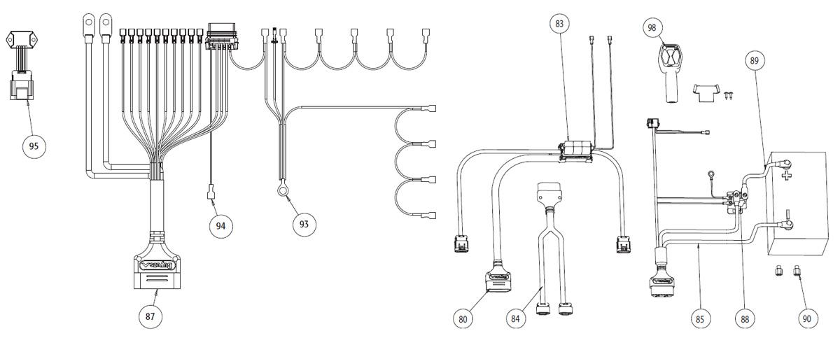 vxf harness rh zips com Western Snow Plow Wiring Diagram Fisher Snow Plow Minute Mount Wiring Diagram