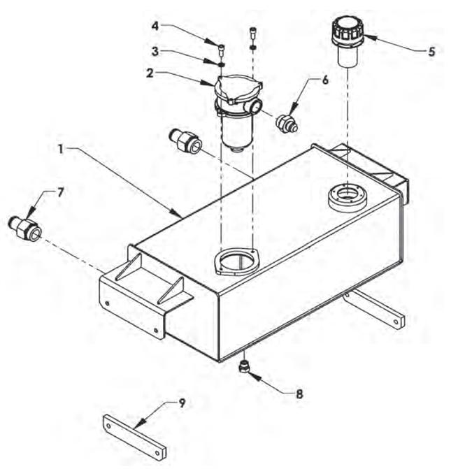 Inboard Oil Reservoir Group Transfer Flow Fuel Tank