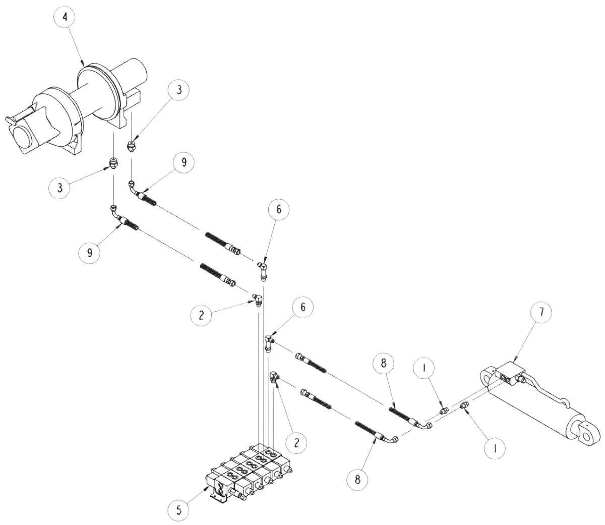 810 power tilt boom hydraulicsVulcan 810 Hydraulic Wiring Diagram #9