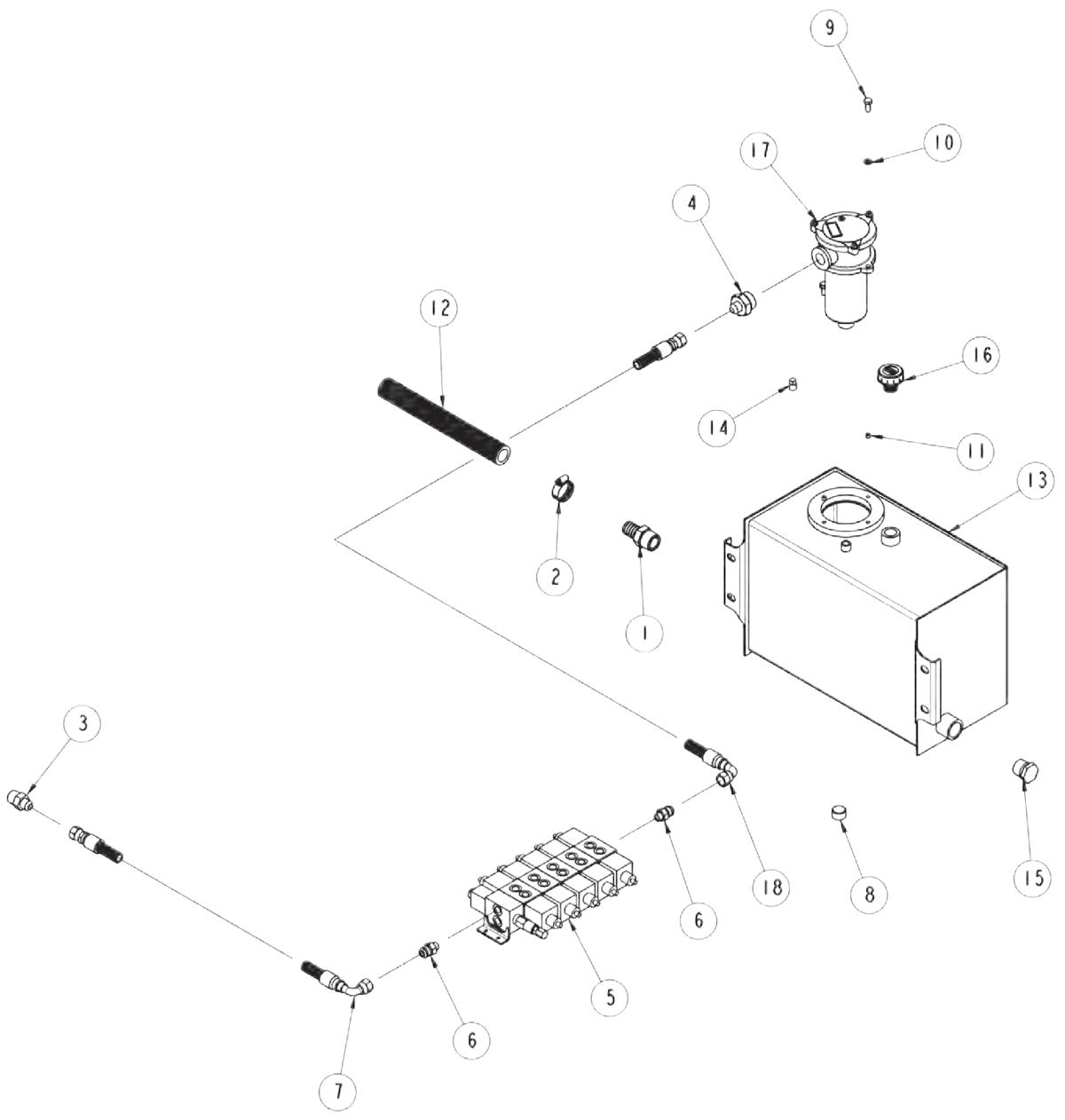 ... 810 power tilt tank hydraulics rh zips com 230V Single Phase Wiring  Diagram Hydraulic Solenoid Valve