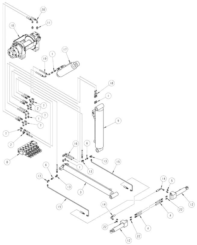 Recovery Boom Wheel Lift Hydraulics