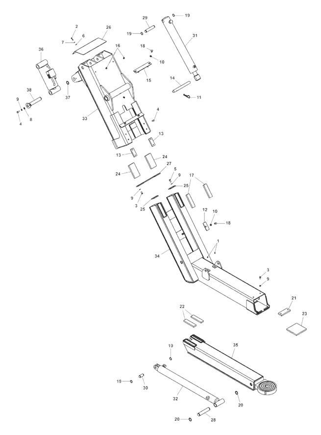 890 Wheel Lift Assembly